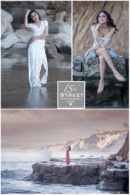 elegant beach model pose goddess portrait senior photo