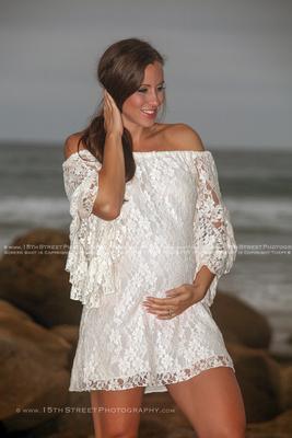 Best Maternity Portrait Pregnancy Photo Organic Elegant Baby Bump Style Beach Photoshoot by Celebrity & Award Winning Art Photographer Monica Kane Stewart 15th Street Photography San Diego Los Angeles
