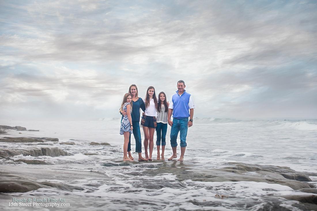La Jolla Fine Art Family Portraits - San Diego Vacation Portrait Photography
