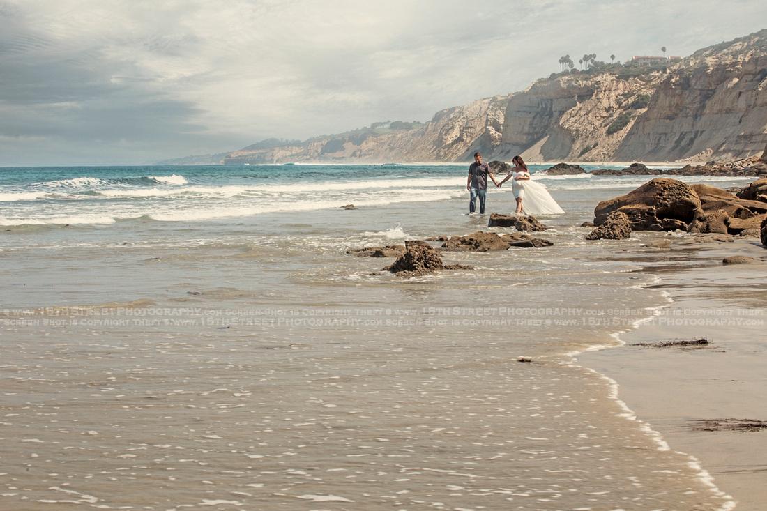 La Jolla Couples Engagement Anniversary Beach Portrait Valentine Gift Idea