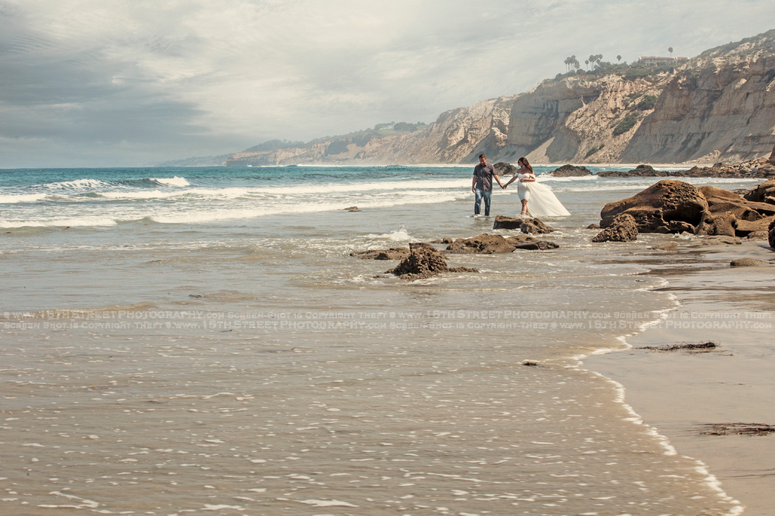 La Jolla Couples Engagement Anniversary Beach Portrait Valentine Gift Idea