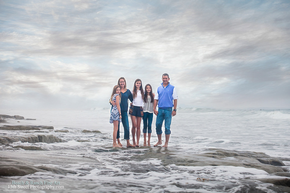 La Jolla Fine Art Family Portraits - San Diego Vacation Portrait Photography